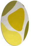 rug #1206079 | oval white abstract rug
