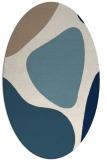 rug #1206095 | oval white abstract rug