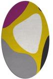rug #1206111 | oval white abstract rug