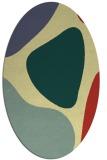 rug #1206119   oval yellow graphic rug