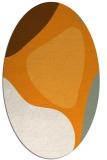 rug #1206143   oval light-orange abstract rug