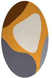 rug #1206147 | oval light-orange rug