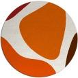 rug #1206807 | round red-orange graphic rug