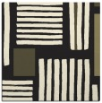 rug #1207279 | square black stripes rug