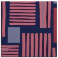 rug #1207347 | square blue-violet stripes rug