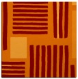 rug #1207467 | square red-orange stripes rug