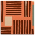 rug #1207479   square orange abstract rug