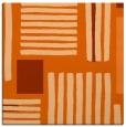 rug #1207535 | square red-orange stripes rug