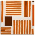 rug #1207543 | square red-orange stripes rug