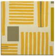 rug #1207575 | square yellow abstract rug