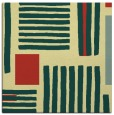 rug #1207591 | square yellow abstract rug