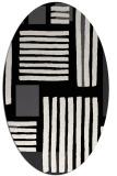 rug #1207627 | oval white stripes rug