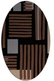 rug #1207639 | oval brown stripes rug