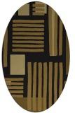 rug #1207643 | oval mid-brown stripes rug