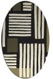 rug #1207647 | oval black stripes rug