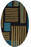 rug #1207651   oval mid-brown stripes rug