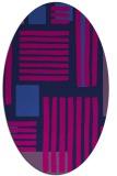 rug #1207659 | oval pink popular rug