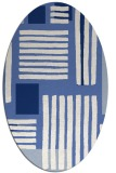 rug #1207671 | oval blue abstract rug