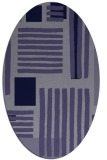 rug #1207711 | oval blue-violet stripes rug