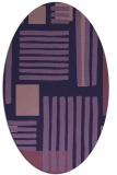 rug #1207719 | oval blue-violet stripes rug