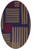 rug #1207727 | oval beige stripes rug
