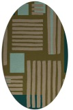 rug #1207735 | oval brown stripes rug
