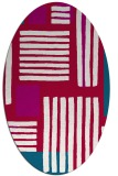 rug #1207739 | oval red abstract rug