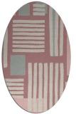 rug #1207747 | oval pink rug