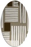 rug #1207787 | oval white abstract rug