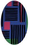 rug #1207827 | oval black stripes rug