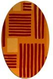 rug #1207835 | oval red-orange stripes rug