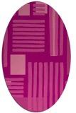 rug #1207851   oval pink abstract rug