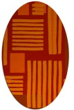 rug #1207887 | oval red stripes rug