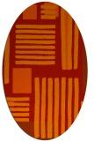 rug #1207887 | oval red popular rug