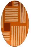 rug #1207903 | oval red-orange stripes rug