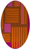 rug #1207907 | oval red-orange stripes rug