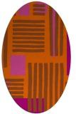rug #1207908 | oval abstract rug