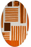 rug #1207911 | oval red-orange stripes rug
