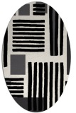rug #1207915 | oval white stripes rug