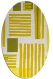 rug #1207919 | oval white abstract rug