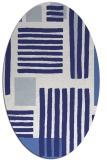 rug #1207923 | oval white stripes rug