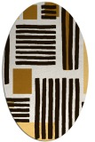 rug #1207927 | oval brown stripes rug