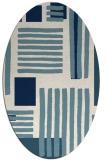 rug #1207935 | oval white abstract rug