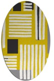 rug #1207951 | oval white abstract rug