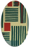 rug #1207959 | oval yellow abstract rug