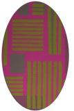 rug #1207972   oval stripes rug
