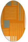 rug #1207983 | oval light-orange stripes rug