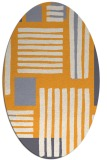 rug #1207987 | oval white abstract rug