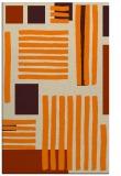 rug #1207991    orange stripes rug