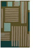 rug #1208103 |  mid-brown abstract rug